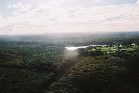 forêt de tronçais et étang de pirot vue du ciel