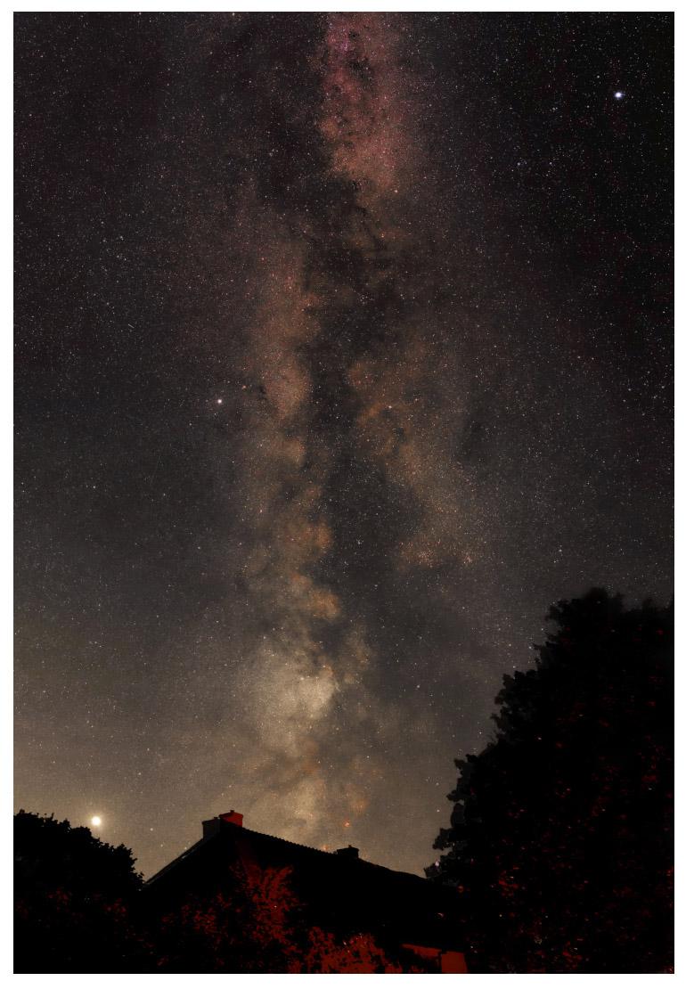 Magnifique spectacle que la Voie lactée au-dessus de La p'Thite Marmande